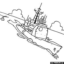 Ticonderoga Class Us Navy Cruiser Ship Coloring