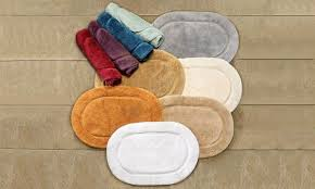 superior cotton oval bath rug set 2 piece