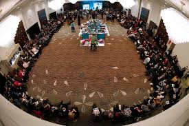 attendees sit around the sharing circle at the 2nd national roundtable on missing and ed indigenous