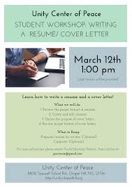 student workshop writing a resum eacute cover letter com student workshop writing a resumeacute cover letter