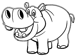 Baby Hippo With Mother Coloring Page Diywordpressme