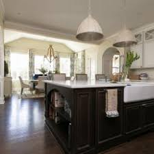 Large Kitchen Island With Prep Sink And Dishwasher In Neutral South  Carolina Country Kitchen