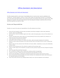 Medical Office Assistant Job Description For Resume Amazing Office assistant Job Description About Medical Office 40
