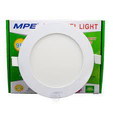 Đèn Led âm trần tròn 9W MPE ánh sáng vàng