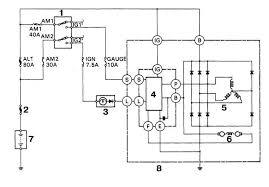 Ремонт и эксплуатация автомобиля toyota land cruiser amazon  3 Контрольная лампа заряда 4 Регулятор напряжения 5 Статорная обмотка 6 Роторная обмотка 7 Батарея 8 Генератор