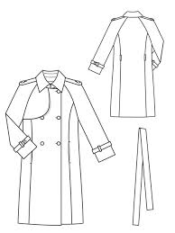 Trench Coat Pattern Enchanting Trench Coat 4848 48 Sewing Patterns BurdaStyle