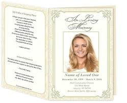 Memorial Pamphlet Template Image Gallery Of Stylish Funeral Handouts Flyer Examples Memorial