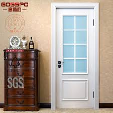 white painting glass insert interior solid wood door gsp3 016
