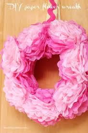 diy tissue paper flower wreath