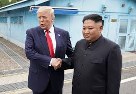 That is, if you buy what some south korean officials are saying about his mysterious health status. Photos And Video Trump Meets With North Korea S Kim Jong Un In Dmz