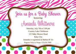 Polka Dot Invitations Zebra Polka Dot Baby Shower Invitation