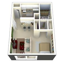 tiny house plan. Tiny House Floor Plans And 3d Home Plan Under 300 Square Feet