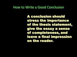 how to write a good conclusion ppt  how to write a good conclusion