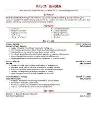 Product Management Resume Samples Free Resume Example And
