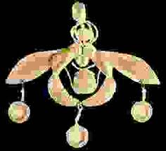 minoan gold pendant of bees encircling the sun showing the use of granulation from