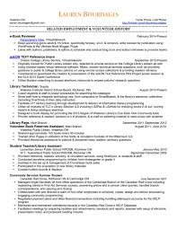 Library Page Resume Resume Ideas
