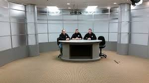 broadcast lightingimportantset lighting design small strong set broadcast background elliptic desk
