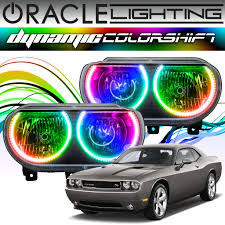 2012 Dodge Challenger Fog Light Bulb Replacement 2008 2014 Dodge Challenger Oracle Dynamic Colorshift Headlight Halo Kit