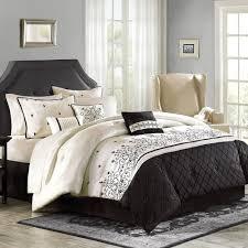 beige and black comforter sets for better homes gardens regent 7 piece bedding set remodel 9