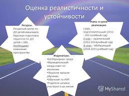 Презентация на тему Мы вместе Модель инклюзивного образования в  5 Оценка реалистичности
