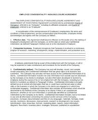 Business Confidentiality Agreement Sample Magnificent Employee Confidentiality Agreement Form Examples Agreement Employee