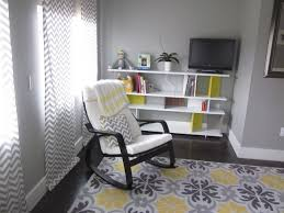Another view of the nursery. Rocking chair from Ikea and the shelf ...