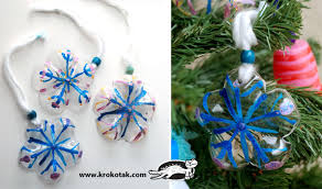 Christmas Decorations Made Out Of Plastic Bottles Water bottle snowflakes In Russian but step by step pics are 26