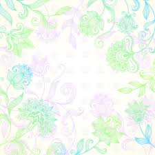 Colour Backgrounds Free Bright Multi Coloured Background With Mehndi Style Flowers Vector