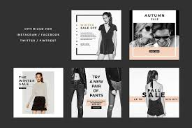 Fashion Designer Facebook App Fashion Social Banner Pack 6 By Minimalstudioco On
