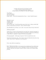 Block Letter Format Template
