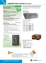 Lawson Products Catalog Ca 2015 Page 921 Welding Alloys