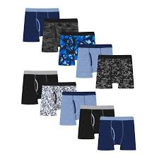 Hanes Boys Boxer Brief Size Chart Hanes Boys Underwear 10 Pack Tagless Comfortsoft Waistband Boxer Briefs Little Boys Big Boys