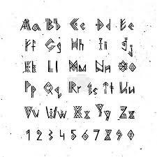 Vektorová Grafika Staroseverského Skandinávské Písmo Runové Abecedy