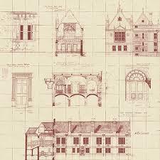 architecture blueprints wallpaper. WP0090704 Brewster Wallcoverings Architecture Blueprints Wallpaper