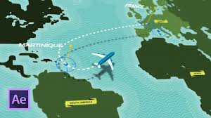 Animated Travel Map Create Animated 3d Map Routes With This Easy After Effects