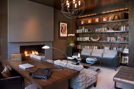modern home office. Example Of A Trendy Freestanding Desk Carpeted Home Office Design In San  Diego With Ribbon Modern