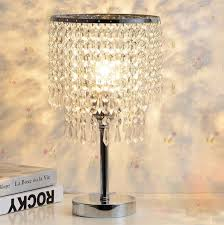 hile lighting ku300085 chrome round crystal chandelier bedroom nightstand table hover to zoom