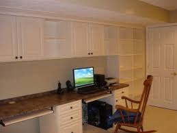 home office in basement. simple and clean home office space down in the finished basement http