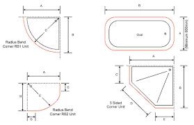 corner shower sizes standard. sensational design shower size standard with mactrac track corner sizes e