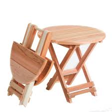 incredible small folding side table small outdoor table solid cedar folding side table kit