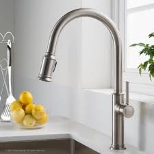 Kitchen sinks and faucets Brushed Nickel Quickview Kitchen Faucets Kitchen Faucets Youll Love Wayfair