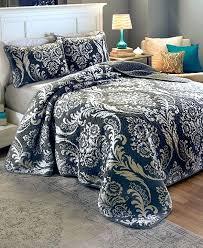 black damask comforter set quilt sham bedding cover reversible solid bedroom