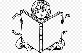 coloring book child drawing reading book