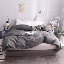 2019 100 cotton european style dark gray solid color duvet cover 220x240cm size quilt case duvet covers super king size bedspreads from hilery