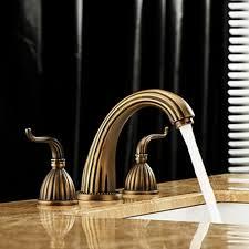 antique brass bathroom faucet. Antique Brass Finish Widespread Bathroom Sink Faucet - FaucetSuperDeal.com C