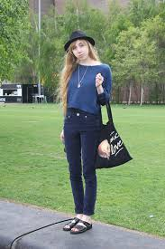 Audrey Riley - Etsy.Com Moon Necklace, H&M Blue Jumper, H&M Hat, Love  Cosmic - Blue on Blue | LOOKBOOK