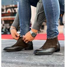 Get the best deal for chelsea brown leather upper boots for men from the largest online selection at ebay.com. New Mens Dark Brown Leather Chelsea Boots Men Casual Wing Tip Leather Boot Chelsea Boots Men Brown Leather Chelsea Boots Brogue Chelsea Boots