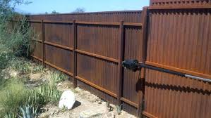 image of build corrugated metal fence