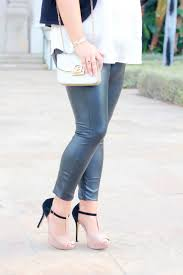 melissa tierney holiday style faux leather leggings how to style faux