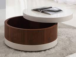 Wonderful Round Coffee Table With Storage Round Leather Coffee Table With Storage  Coffee Tables Storage